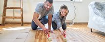 A couple doing home improvements with help from a Personal Loan