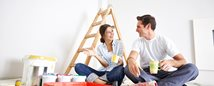 couple doing home improvements with their home equity loan