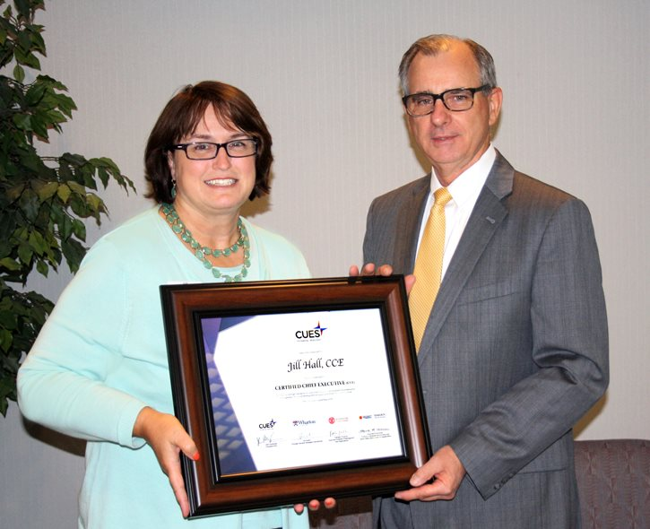 Employee Receives Certified Chief Executive Designation Award